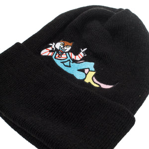 "Better™/Electro Magnetic ""Hanji"" Embroidered Black Beanie"