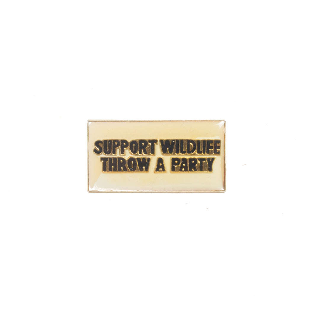 Vintage Support Wildlife Pin