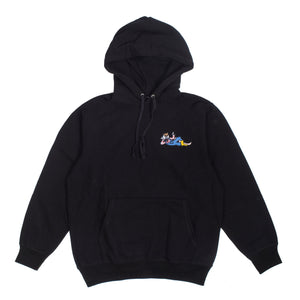 "Better™/Electro Magnetic ""Hanji"" Embroidered Black Hoodie"