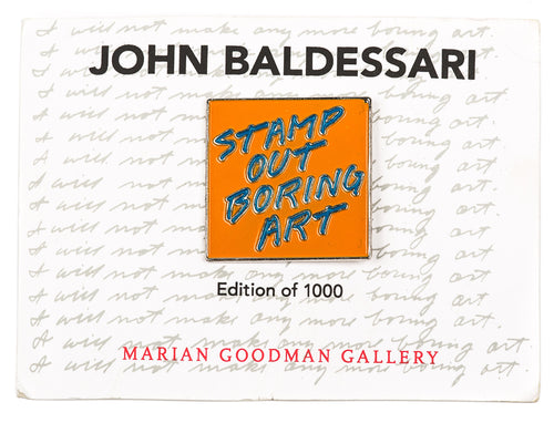 John Baldessari Pin