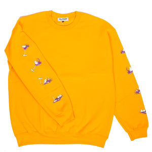 Blohm Party's Over L/S Sweat Gold