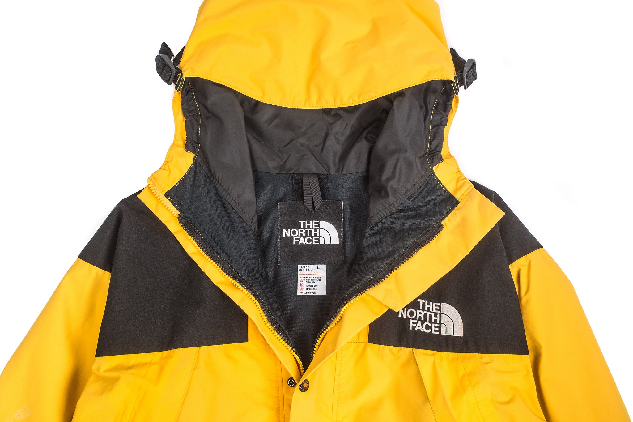 ad58138a7 where to buy north face gore tex jacket vintage yellow 40f92 baea0
