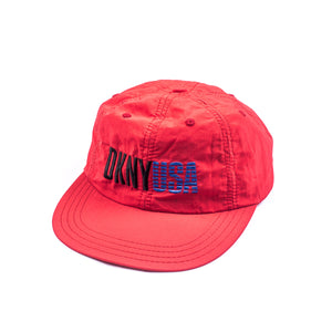 DKNY USA Red 6 Panel Hat