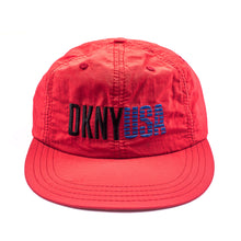Load image into Gallery viewer, DKNY USA Red 6 Panel Hat
