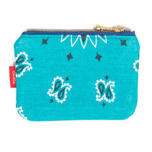 Load image into Gallery viewer, Tokyo Gimmicks Zip Wallet Teal Paisley