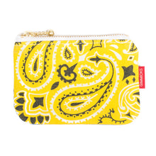 Load image into Gallery viewer, Tokyo Gimmicks Zip Wallet Yellow Paisley