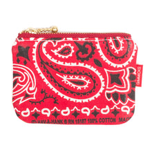 "Load image into Gallery viewer, Tokyo Gimmicks - ""Red Paisley"" Zip Wallet"