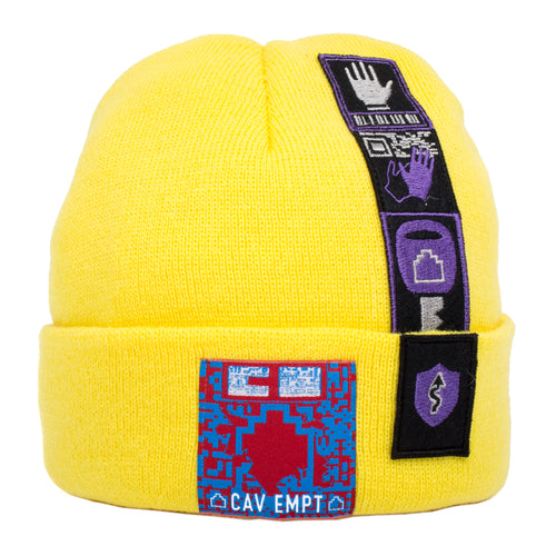 CAV EMPT Patched Knit Cap Yellow
