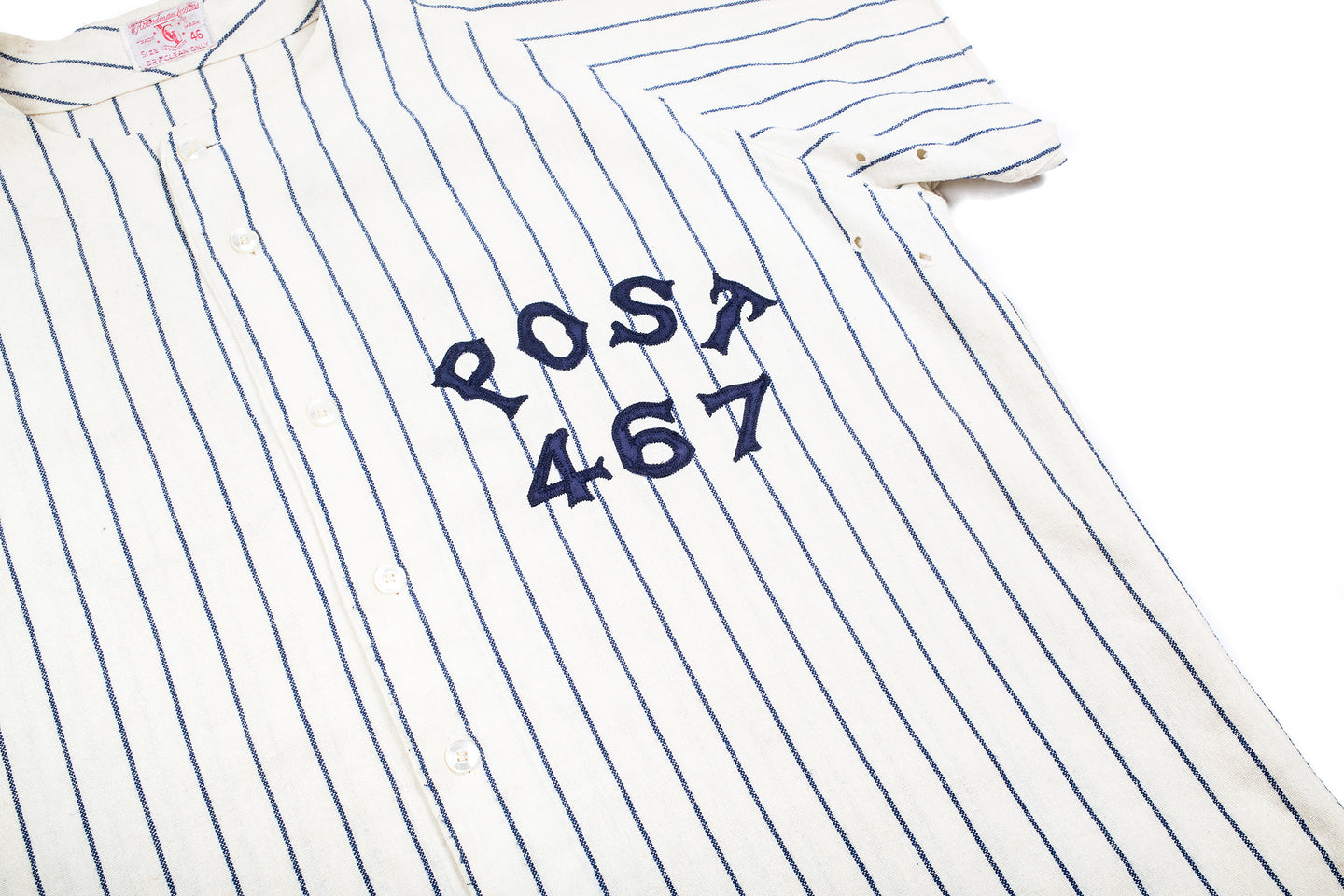 dcb367dafb ... Vintage Goodman and Sons - Post 467 Pinstripe Baseball Jersey ...