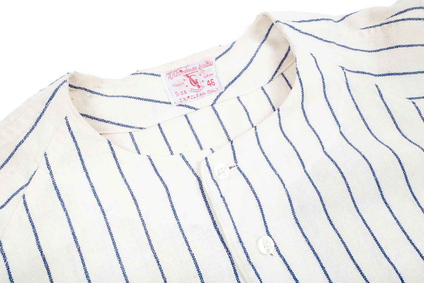 8d9611e2b3 ... Vintage Goodman and Sons - Post 467 Pinstripe Baseball Jersey