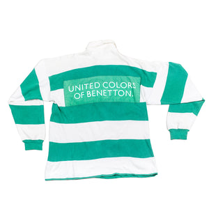 Vintage United Colors Of Beneton Striped Rugby