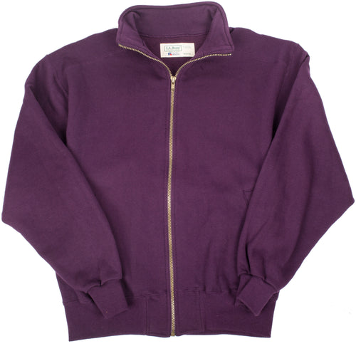 LL Bean / Russel Athletics  Eggplant Fleece Zip