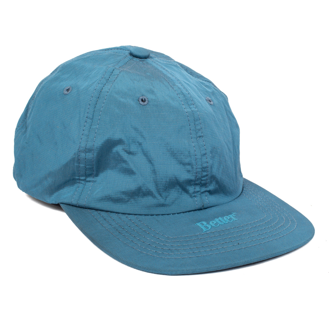 Better Metallic Nylon 6-Panel Blue