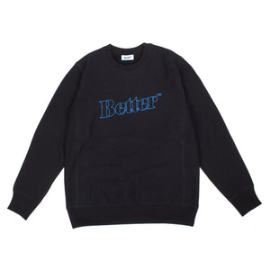 Better™ Outline Logo Crewneck Black
