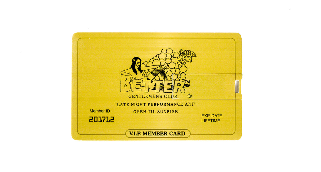 Better™ VIP Gentleman's Club Gold Member USB Access Card