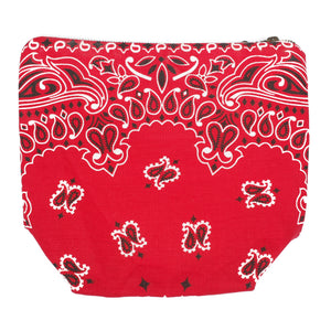 "Tokyo Gimmicks ""Red Paisley"" Pouch"