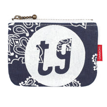 Load image into Gallery viewer, Tokyo Gimmicks Zip Wallet Navy Paisley