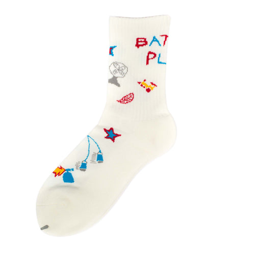 RWCHE BATTLE PLAN SOCK WHITE