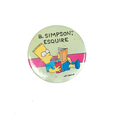 Vintage Bart Simpson Button Pin #1