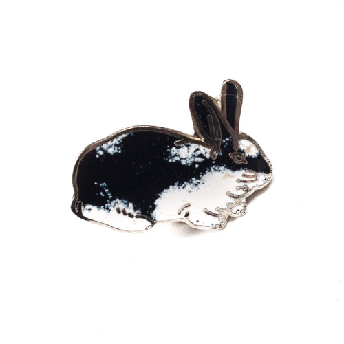 Vintage Black Rabbit Lapel Pin