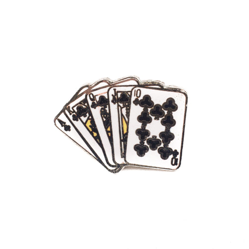 Vintage Playing Cards Lapel Pin