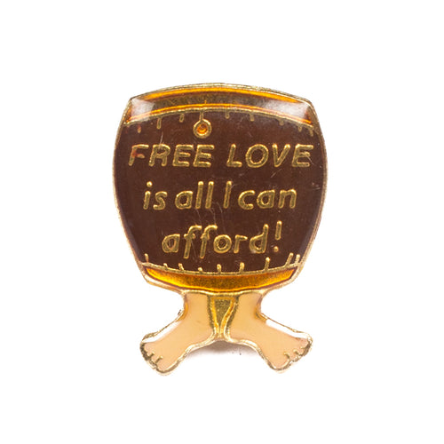 Vintage Free Love Lapel Pin