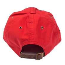 Organ Handmade Red Washed 6 Panel Hat