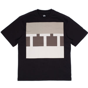 "The Trilogy Tapes - S/S ""Block Logo"" Black Tee"