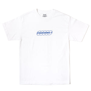 Book Works White Record Logo Tee