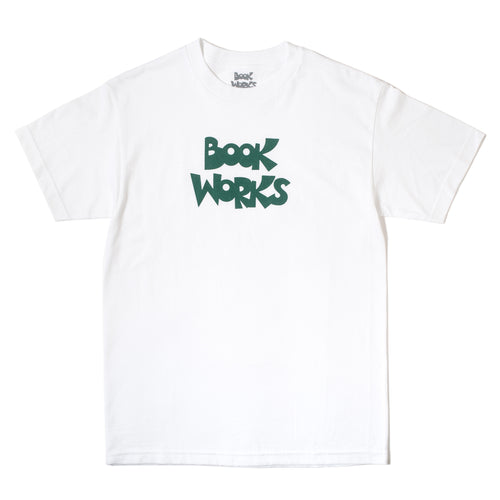 Book Works OG White Logo Tee