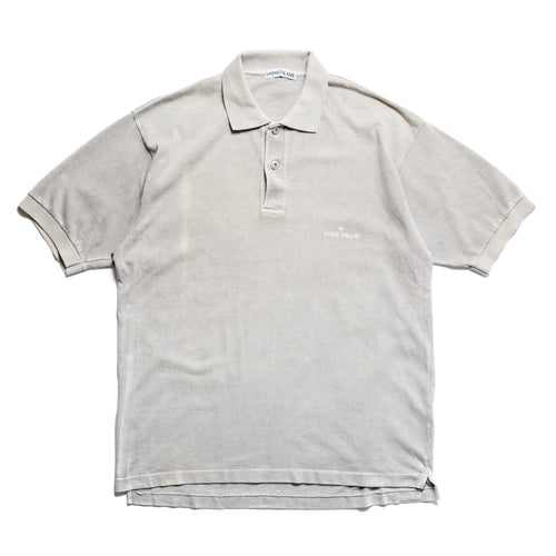 S/S 1989 Grey Compass Embroidered Polo Shirt