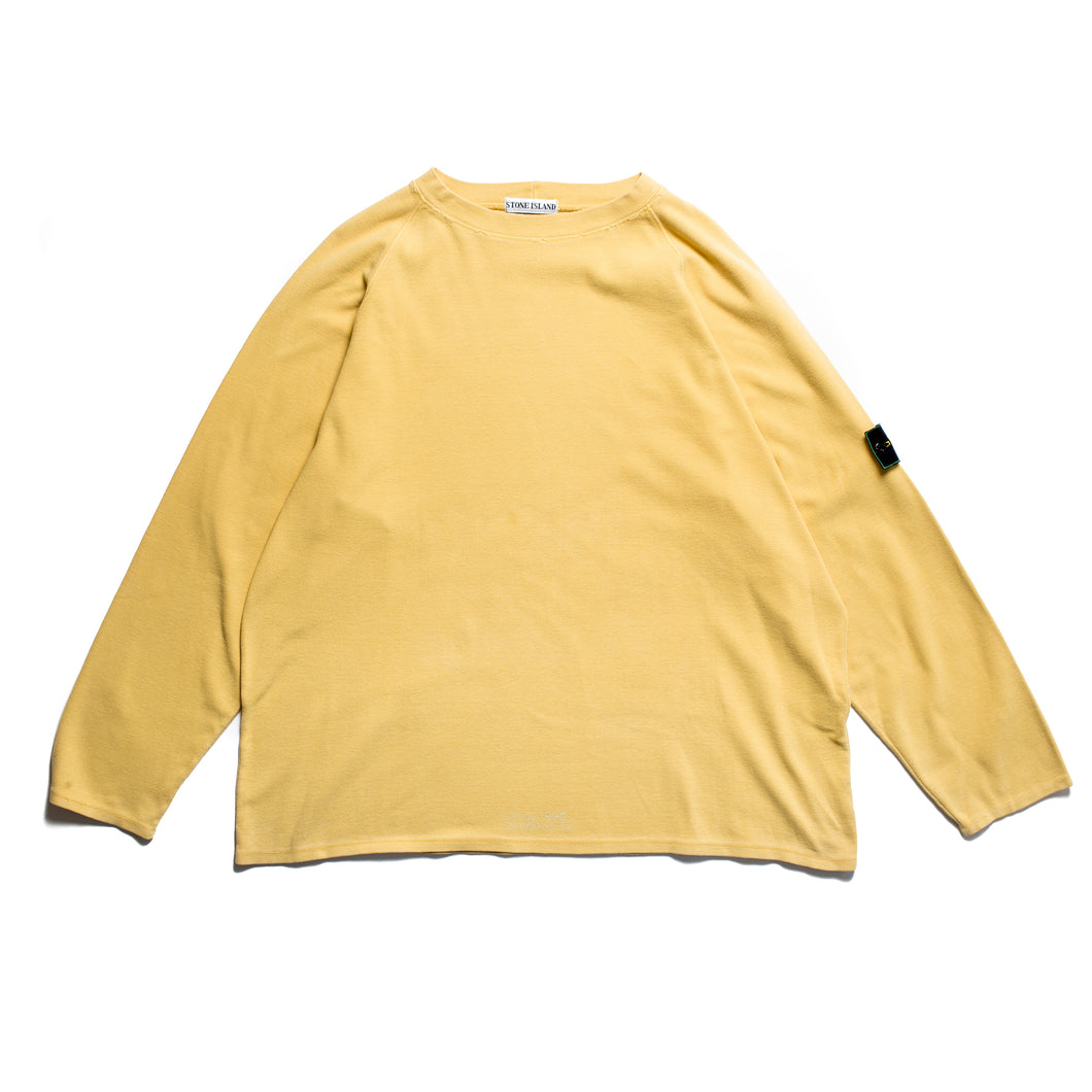 S/S 1995 Yellow Loose Seam Stamp Jumper