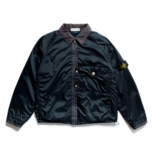 A/W 2000 Navy Nylon Fleeced Sports Jacket