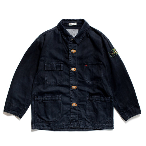 S/S 1987 Denim Compass Embroidered Multi-Pocket Chore Jacket