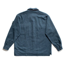 Load image into Gallery viewer, A/W 1995 Blue Grey Wool Chunky Overshirt