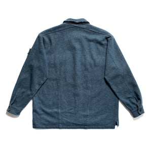 A/W 1995 Blue Grey Wool Chunky Overshirt