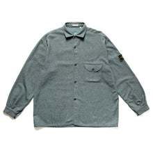 Load image into Gallery viewer, A/W 1994 Blue Grey Wool / Felt Mix Open Seam Overshirt