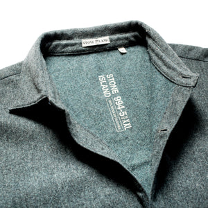 A/W 1994 Blue Grey Wool / Felt Mix Open Seam Overshirt
