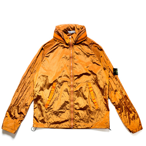 S/S 2008 Orange Shimmer Nylon Hooded Jacket