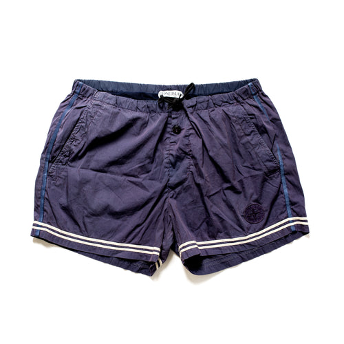 S/S 2010 Dark Purple Compass Embroidered Trunks