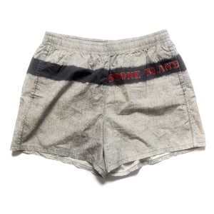 S/S 1995 Grey Wash Red Stencil Spellout Trunks