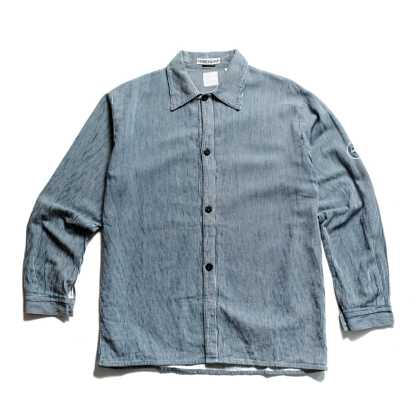 S/S 1997 Blue&White Compass Imprint Overshirt