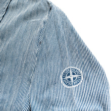 Load image into Gallery viewer, S/S 1997 Blue&White Compass Imprint Overshirt