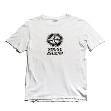Load image into Gallery viewer, A/W 2008 White Camo Compass Graphic T-Shirt