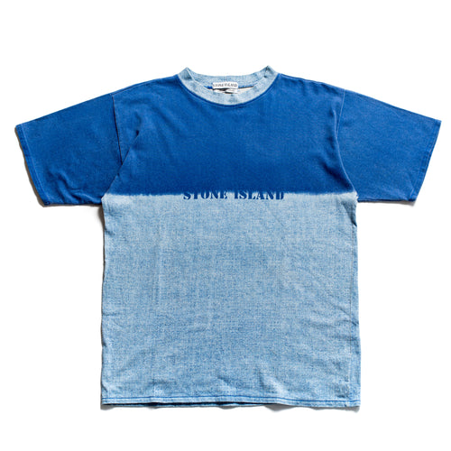 S/S 1995 Blue 2 Tone Corrosion Spellout T-Shirt