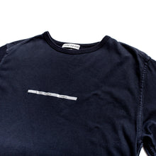 Load image into Gallery viewer, S/S 2000 Navy Plastic Strip Spellout T-Shirt