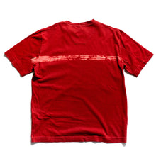 S/S 2001 Red Bleach Stripe Spellout T-Shirt