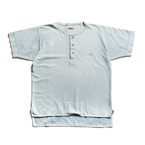 S/S 1990 Blue Button Down Marina Spellout T-Shirt