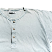 Load image into Gallery viewer, S/S 1990 Blue Button Down Marina Spellout T-Shirt