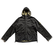 "Load image into Gallery viewer, A/W 2005 Navy Raso Floccato ""Riot Mask"" Jacket"